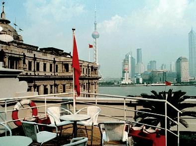 La terrazza panoramica del Captain Hostel - Shanghai