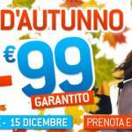 Saldi d'autunno: si vola dai 9 ai 99 euro