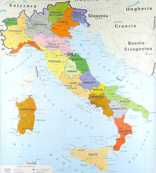 cartina italia: