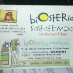 Biosteria Saltatempo: mangiare bio a Roma con 10 euro