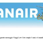 Ho vinto un voucher Ryanair