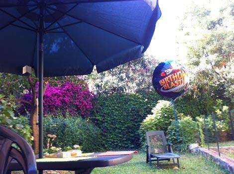 Il giardino della casa affittata a Levanto
