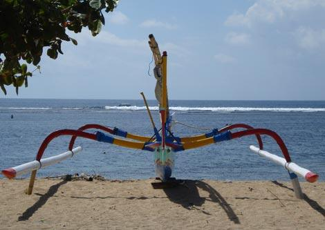 A fishing boat in Sanur