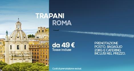 Volo low cost da roma a trapani con darwin airline for Mobili low cost roma