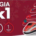 A Natale e Capodanno si viaggia in treno in 2 al prezzo di 1