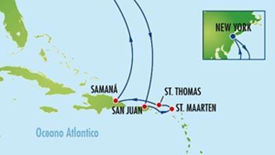 Itinerario della crociera ai Caraibi