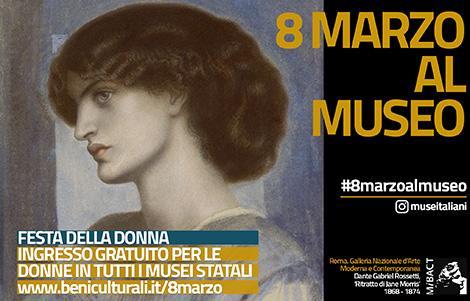 musei gratis per la festa della donna l'8 marzo