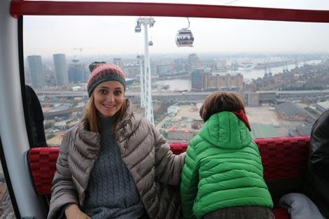 Londra con bambini:  funivia sul Tamigi