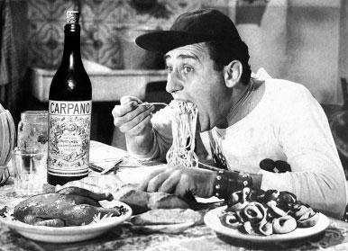 """Alberto Sordi in """"Un americano a Roma"""""""
