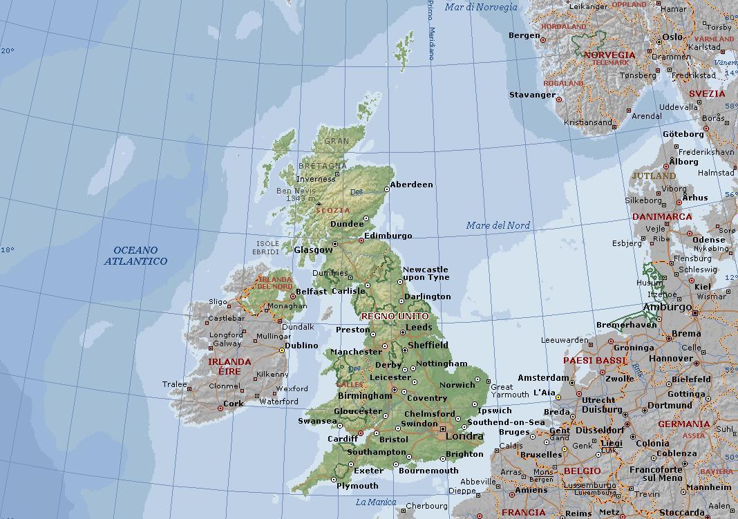Cartina Fisica Regno Unito In Italiano.Le Cartine Geografiche Dell Inghilterra