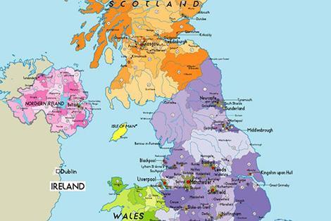 Cartina Dell Italia Solo Contorno.Le Cartine Geografiche Dell Inghilterra