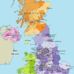 Le cartine geografiche dell'Inghilterra
