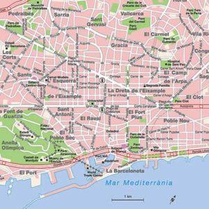 mappa città barcellona