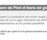 Sciopero aerei Iberia 30 gennaio 2012