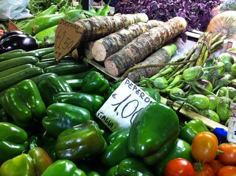 Verdure al mercato dell'esquilino