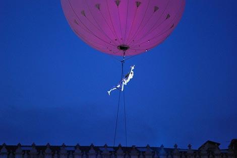 volo dell'angelo al carnevale di venezia