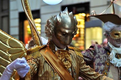 Maschere al carnevale romano