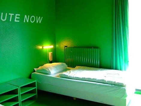 stanza verde al crhistopher inn's di amsterdam