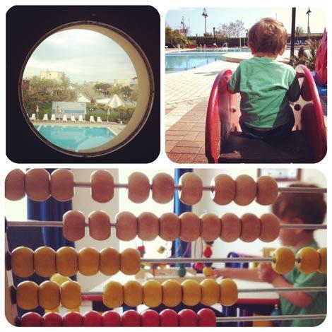 giochi e piscina all'hotel valverde