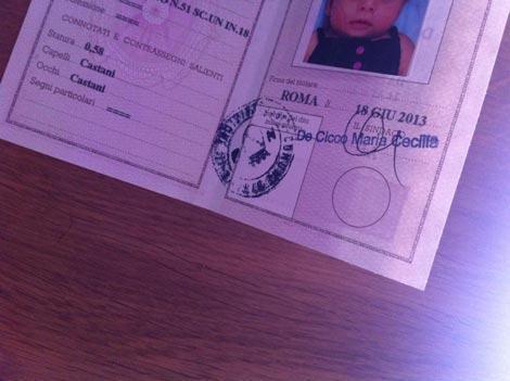 carta d'identità per neonati