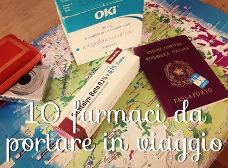 farmaci da viaggio