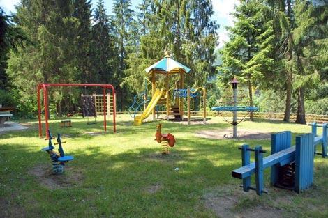 Area giochi del Camping Village Dolomiti