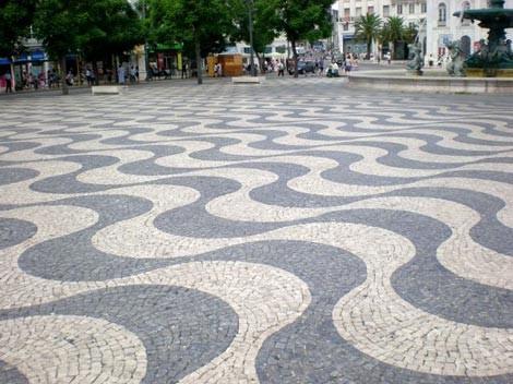Piazza del Rossio, dettaglio
