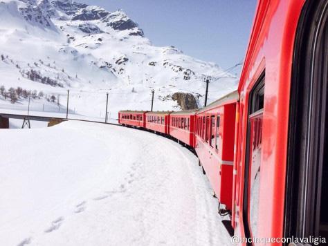 Weekend all'estero con bambini in inverno: trenino rosso del bernina