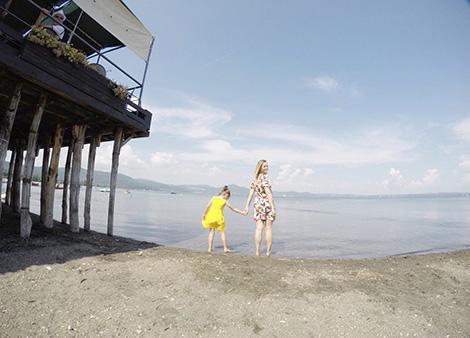 io e Bianca al Lago di Bracciano