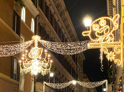 luminarie di Cartoon Network in via condotti