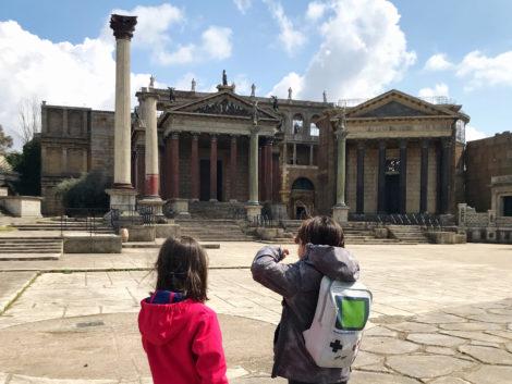 roma antica il set di Cinecittà