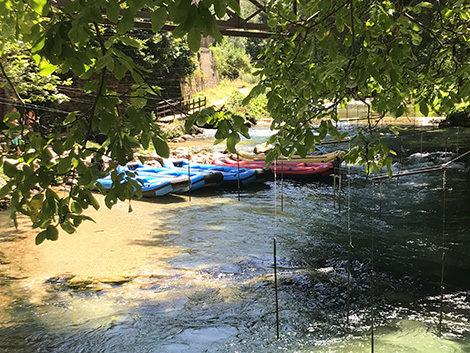 Rafting con bambini a Subiaco