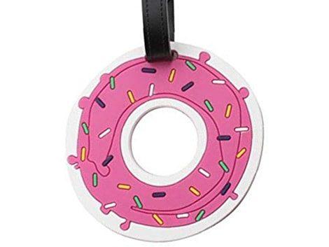 targhetta per valigia a forma di donuts