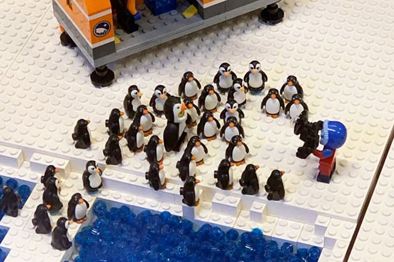 Mostra Lego Roma 2020 con vista sull'Altare della Patria