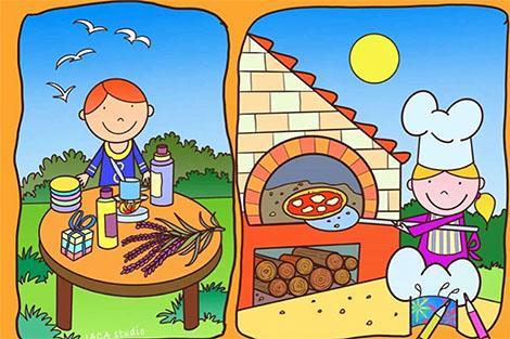 Laboratorio sulla pizza cotta nel forno a legna alla Fattorietta